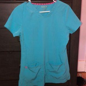 HeartSoul matching blue scrub set
